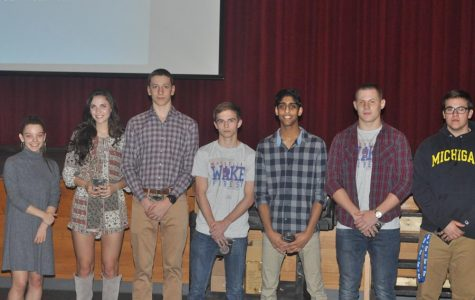 Winter athletes honored at banquet