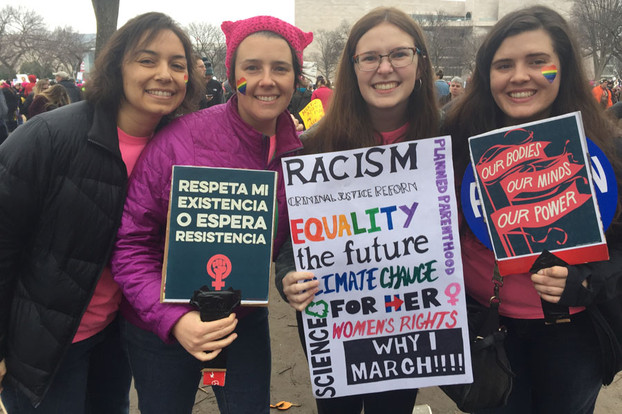 .Junior+Mayla+Gilliam+was+one+of+many+students+who+chose+to+march+in+Washington+D.C.+Jan.+21+in+the+worldwide+Women%E2%80%99s+March.