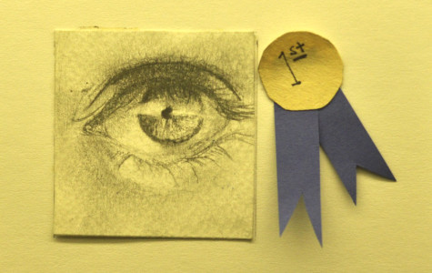 Students participate in tiny art project