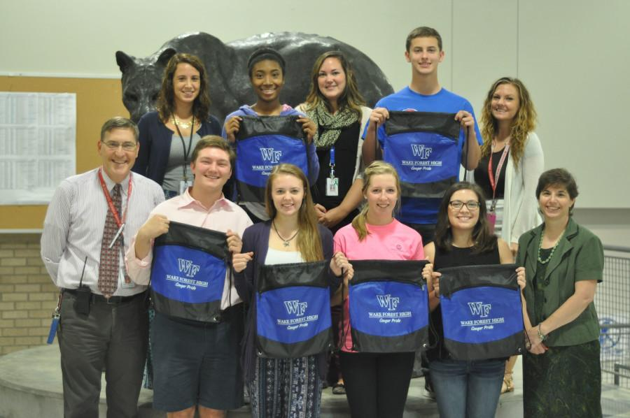 Nominated for the Morehead-Cain scholarship are students (pictured left to right in bottom row) Jack Noble, Hannah Snow, Payton Baker, and Lily Olmo. Nominated for the Park scholarship are students  (pictured left to right in top row) are Chardell Hodges and James Dalton.