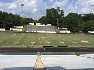 Trentini stadium ready for fall season sports in Aug. 2015.