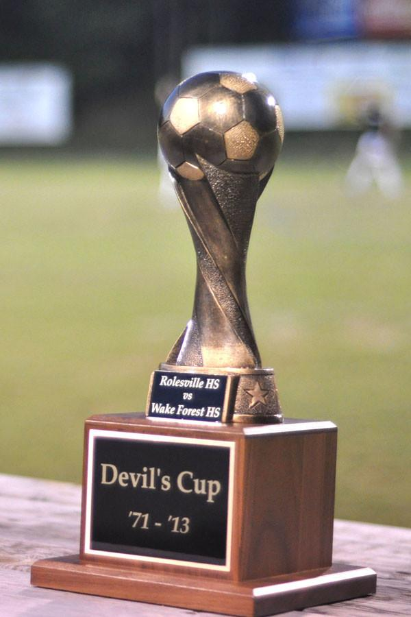 The+Devil%27s+Cup+trophy+goes+to+the+winner+of+the+Roleville+vs.+Wake+Forest+match+played+during+the+bye+week+of+the+football+season.+