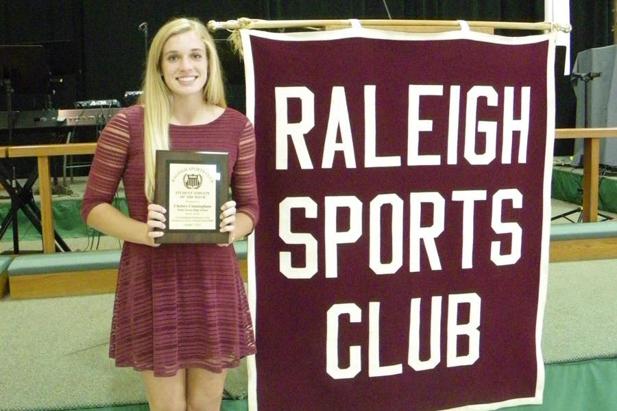 Senior Chelsea Cunningham was honored as the club's Athlete of the Week. She is the second WF athlete honored this year.