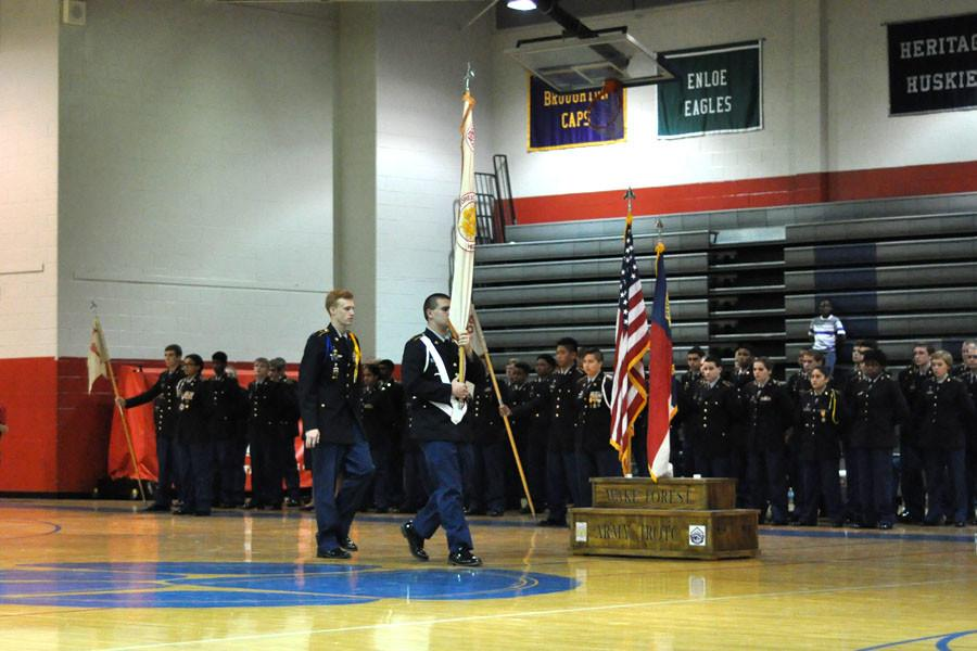 JROTC cadets participate in activation ceremony