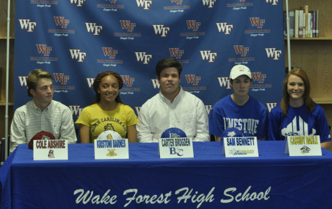Five athletes commit to college athletic programs