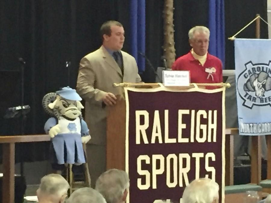 Senior+Brandon+Locklear+honored+by+Raleigh+Sports+Club
