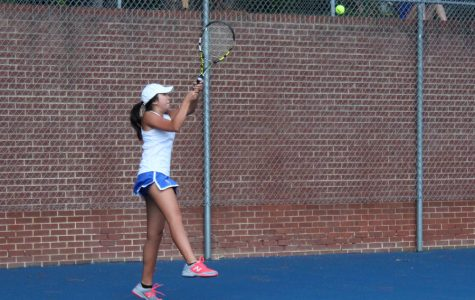 The girls' tennis team doubles over with success