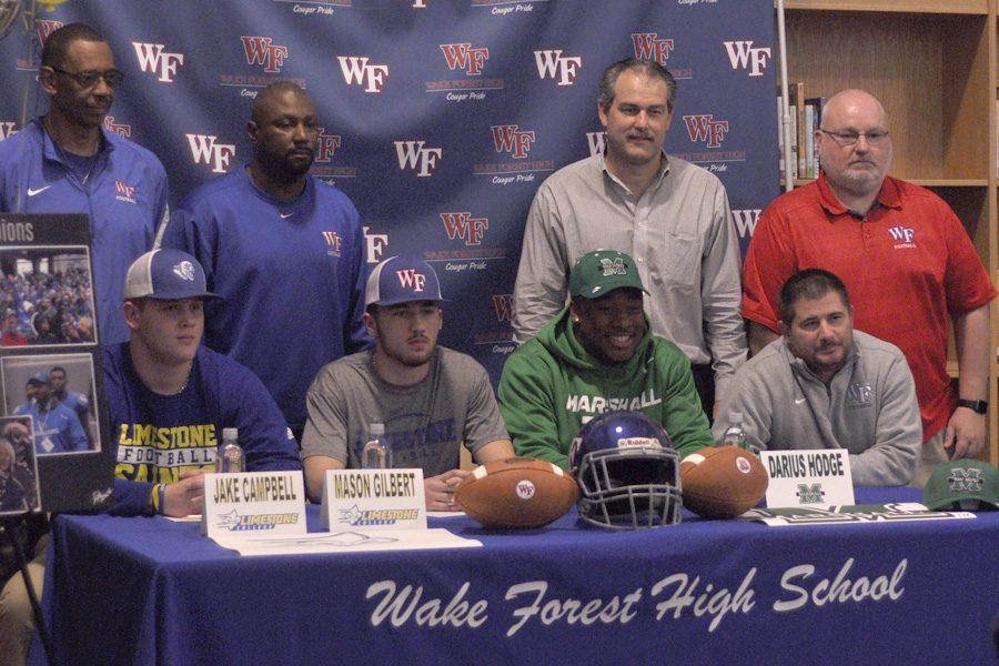 Linebacker+trio+sign+collegiate+contracts