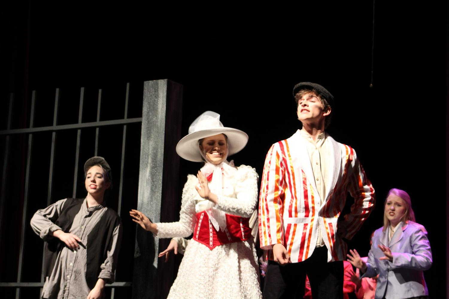 "Sophomore Carly Hebert stars alongside senior Coltan Compton in the production of ""Mary Poppins."" Hebert was also the lead of last year's  ""Happy Days"" production."