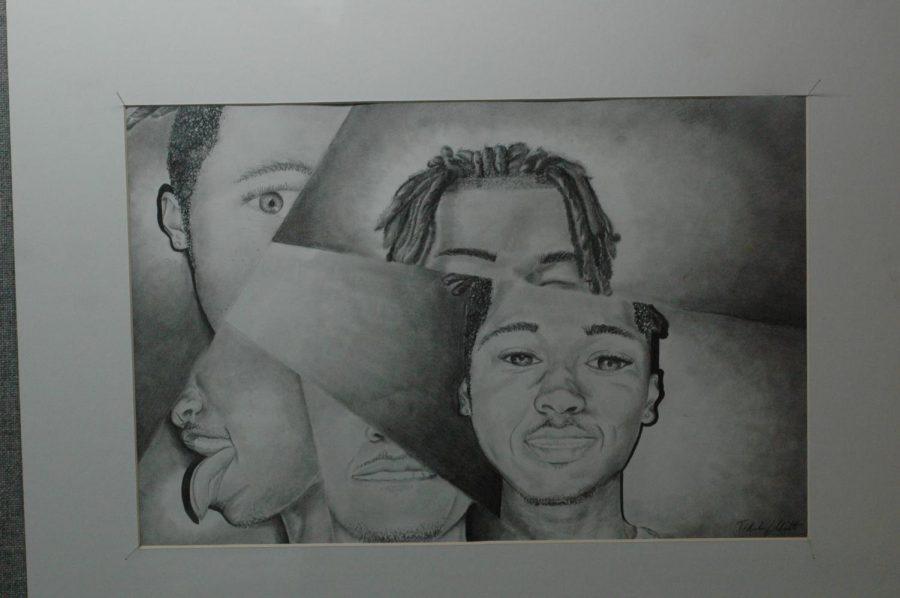 Artist work displayed