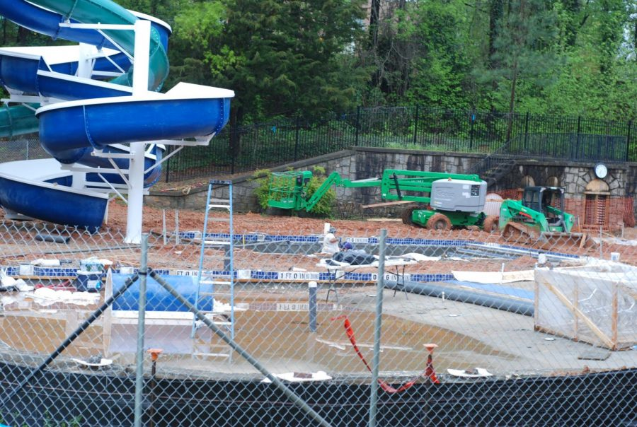A leak forced the aging town pool built in the 1940s to close in 2016. Its new replacement is slated to open in early summer.
