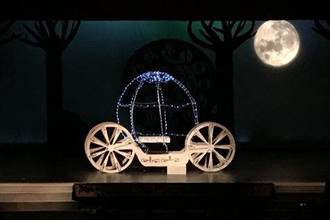 Cazin said she enjoyed the moving parts of the Cinderella production. Lighting the carriage and the moon were two of the principle tasks under Cazin