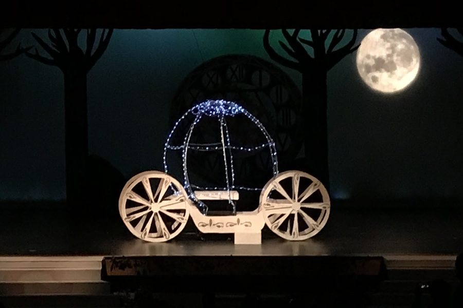 Cazin said she enjoyed the moving parts of the Cinderella production. Lighting the carriage and the moon were two of the principle tasks under Cazin's direction.