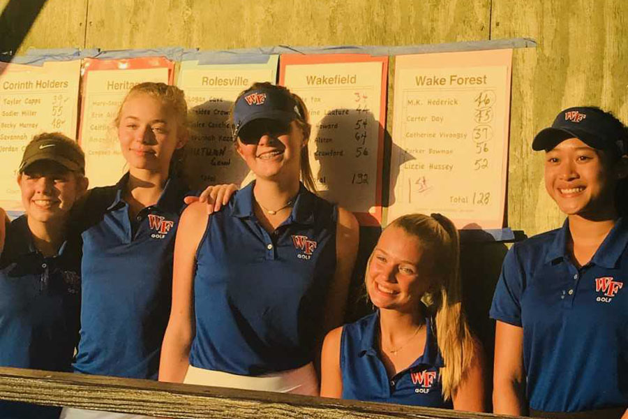 The Golf team achieves first conference win on Tuesday, Oct. 2. Prior to this victory, the team had upheld two second place finishes.