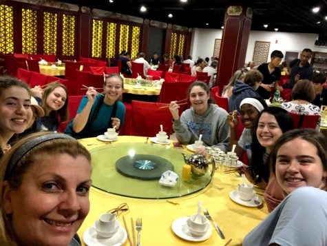 A highlight of the trip for the students was trying brand new ethnic foods. Those pictured include: Sarah Bryant, Dylan Hoover, Samantha Kabakibi, Sarah Flake, Shakori Crapenter, Delaney Sharpe, Ella McCamy, and Roxana George.