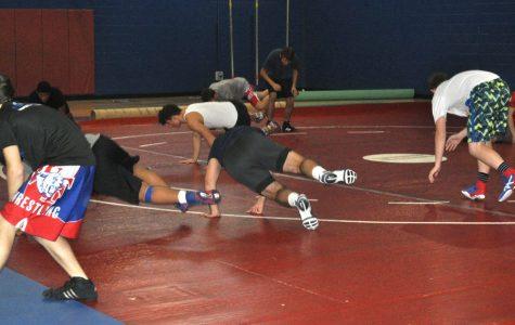 Boys' wrestling preparation towards upcoming fall season