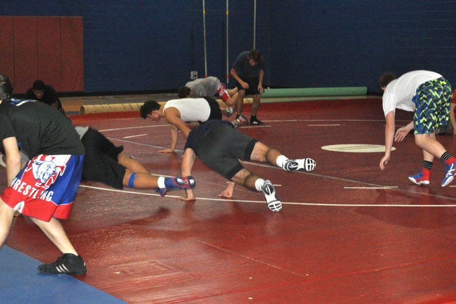 Boys' wrestling preparation towards upcoming fall season