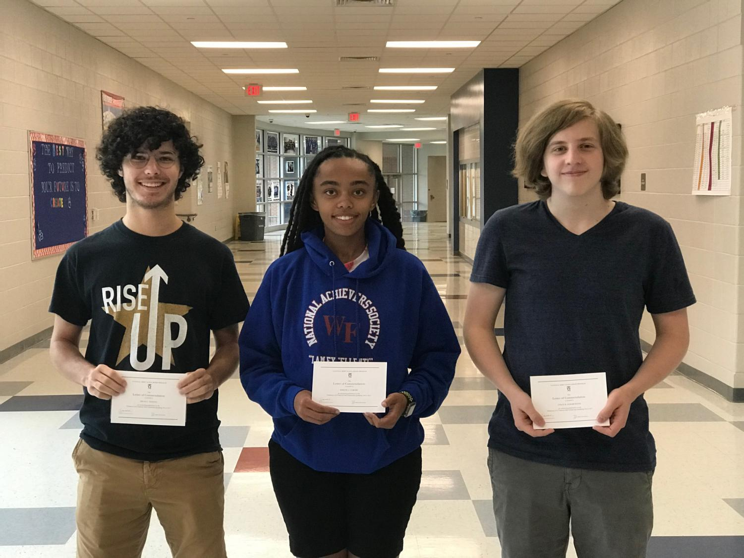 Featured: Seniors Dylan Haston, Simone Nabors, and Colin Lemarchand.