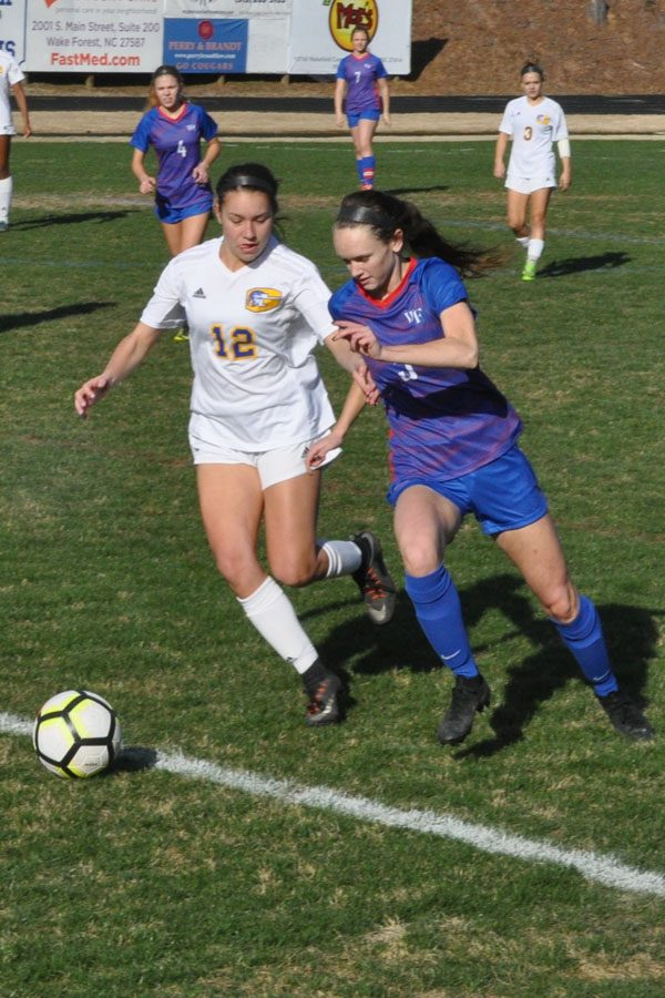 Junior Ashley Finn scored and assisted in their 4 to 1 victory over Garner