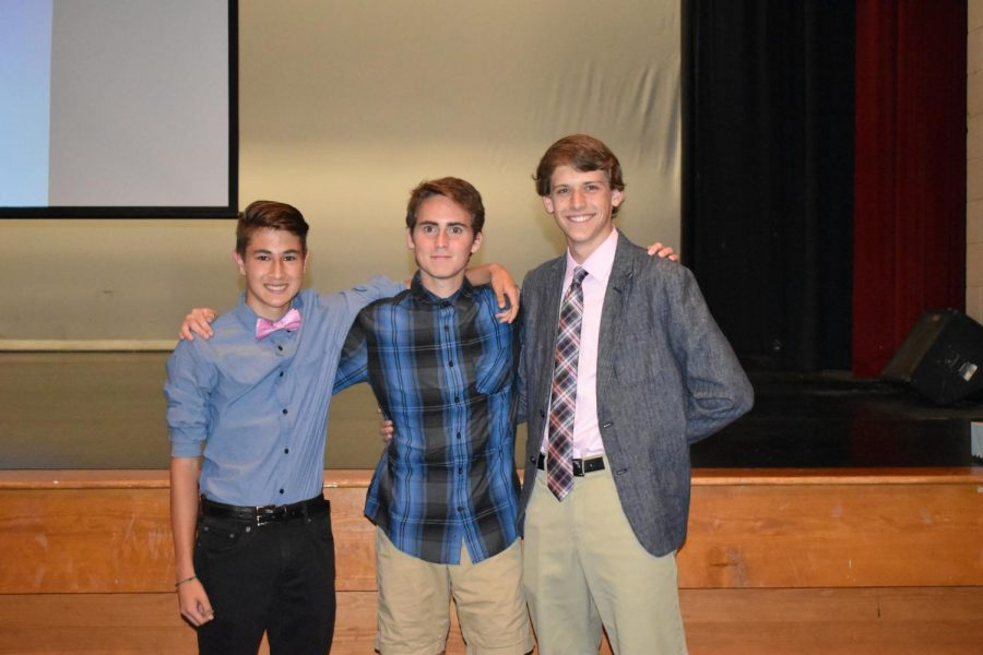 From left to right: Lucas Rorick, Benjamin Hayes and Zac Miles