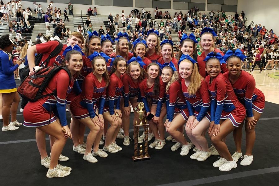 Cheer Team Takes Top Honors at Wake County Competition