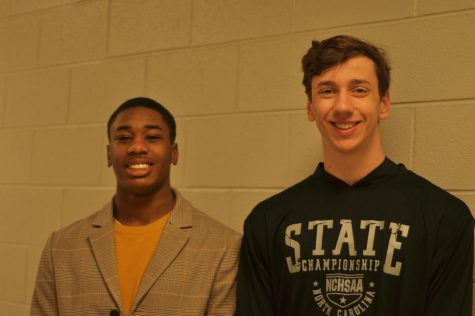 Seniors Melvin McLawhorn (left) and Gideon Bezuidenhout (right)