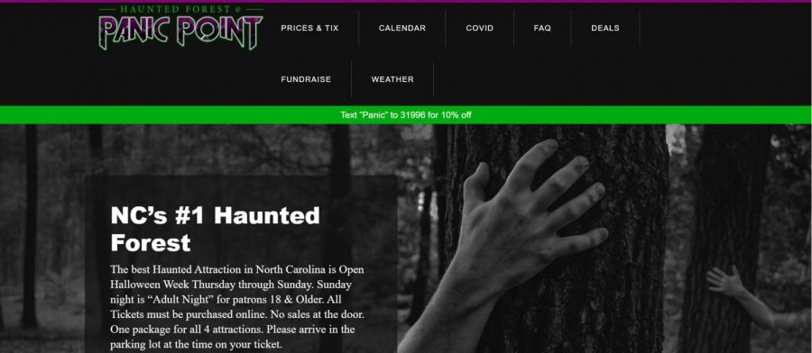 Screenshot of Panic Point's website: https://www.raleighhauntedhouse.com/